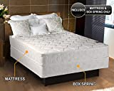 Legacy Gentle Firm Full Size (54'x75'x8') Mattress and Box Spring Set - Fully Assembled, Good for Your Back, Longlasting Comfort - One Sided - None Flip by Dream Solutions USA