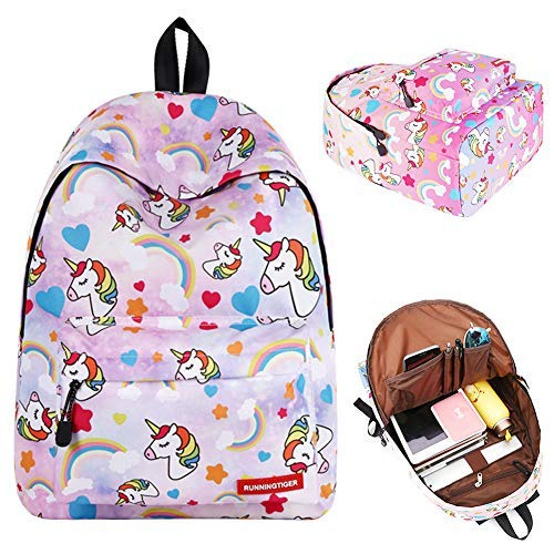 BJHAP Unicorn School Backpack for Boys Teen Girls Kids, 14 Inch Laptop Bag Casual Lightweight Bookbag Women Travel Daypack