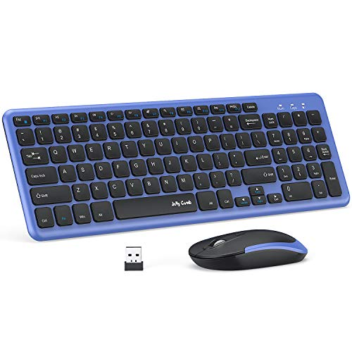 Wireless-Keyboard-and-Mouse-Jelly-Comb-24G-USB-Keyboard-Mouse-Combo-Slim-Ergonomic-Quiet-Energy-Saving-Keyboard-Mouse-Set-for-Windows-Computer-Desktop-PC-Notebook-Laptop-KS27-2-Black-and-Blue