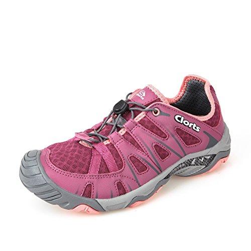 Clorts Women's Water Shoes Lightweight Quick Drying Hiking Sandal Kayaking Trekking Walking 3H025C US7.5 Purple