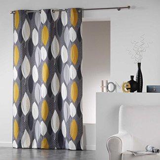 Coton d'Interieur tenda a occhielli in cotone, Cotone, giallo, 280×140 cm