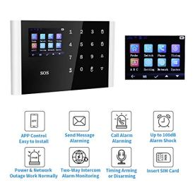 Home-Security-System-KKUYI-GSM-Alarm-System-Wireless-Remote-Control-Security-Alarm-with-Optional-247-Monitoring-No-Contracts-APP-Control-Easy-Installation-for-House-Office-Business