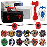 3T6B Bey Battling Top Burst Launcher Grip Set Storage Box Top Burst Gyros 4D with Launcher Burst Toys for Children + Portable Storage Box Case