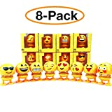 8 Pcs Cute Emoji Bobble Head Dolls, Funny Smiley Face Springs Dancing Toys for Car Dashboard Ornaments, Party Favors, Gifts, Home Decorations