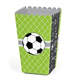 Big Dot of Happiness Goaaal - Soccer - Baby Shower or Birthday Party Favor Popcorn Treat Boxes - Set of 12