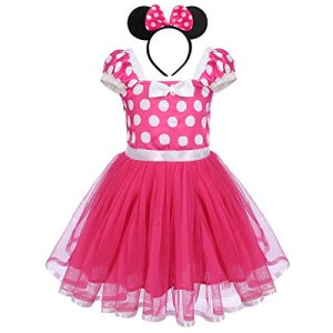 Infant Baby Toddlers Girls Polka Dots Birthday Princess Bowknot Tutu Dress Cosplay Pageant Dress up Carnival Fancy Costume Party Outfits + Headband 51kclpnXuiL