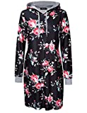 Product review for AMZ PLUS Plus Size Long Sleeve Floral Sweater Dress with Pocket Pullover Hoodies for Women