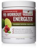 Red Leaf Pre-Workout Energizer - Beta-Alanine, BCAA's, Glutamine, Aminos, Green Tea - Pre Workout Supplement with Natural Cranberry Lime Flavor, 30 Servings