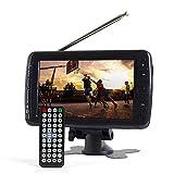 Tyler TTV701 7' Portable Widescreen LCD TV with Detachable Antennas, USB/SD Card Slot, Built in Digital Tuner, and AV Inputs