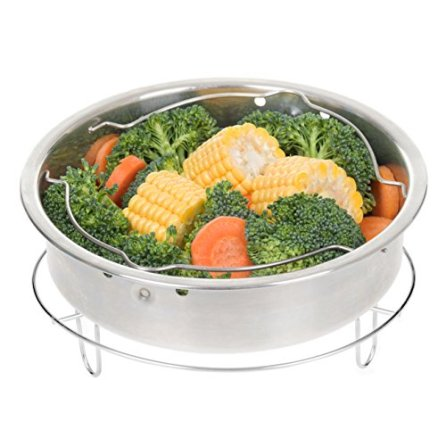 Secura-Stainless-Steel-6-quart-Electric-Pressure-Cooker-Steam-Rack-Steamer-Basket-Insert-Set