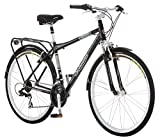 Schwinn Discover Hybrid Bike, Featuring 18-Inch/Medium Aluminum Step-Over Frame, 21-Speed Drivetrain, Front and Rear Fenders, Rear Cargo Rack, and Kick-Stand, with 700c/28-Inch Wheels, Black