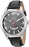 ESQ Men's Dress Stainless Steel Analog-Quartz Watch with Leather-Pig-Skin Strap, Black, 21 (Model: 37ESQE08001A)