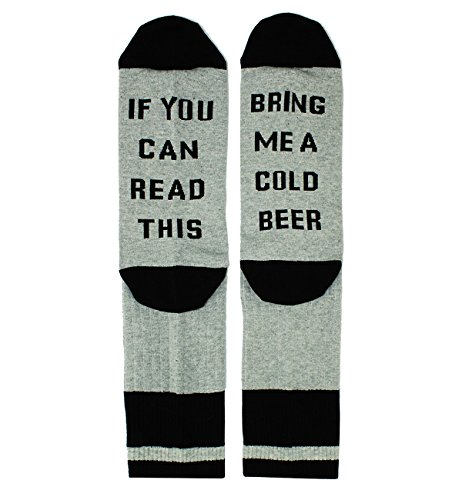 If You Can Read This Novelty Funny Saying Beer Socks, Fun Gag Beer Gift for Men