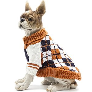 HAPEE Pet Clothes The Diamond Plaid Cat Dog Sweater, Dog Accessories, Dog Apparel,Pet Sweatshirt