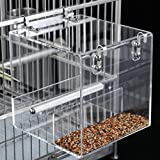 KINTOR No-Mess Bird Feeder NO Assembly with Rough-surfaced Stainless Steel Perch (M)