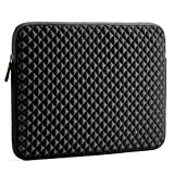 Laptop Sleeve, Evecase 15~15.6 inch Diamond Foam Splash & Shock Resistant Neoprene Universal Sleeve Zipper Case Bag for Dell HP Gaming Chromebook Ultrabook Notebook - Black