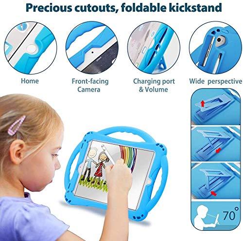 [New Design]TopEsct iPad Mini Case Kids Shockproof Handle Stand Cover for iPad Mini, Mini 2, Mini 3, Mini 4 and Mini 5(2019 Model)(iPad Mini,Blue)