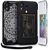 TORU CX PRO iPhone XR Wallet Case Pattern Mandala with Hidden Credit Card Holder ID Slot Hard Cover, Strap, Mirror & Lightning Adapter for Apple iPhone XR (2018) - Dreamcatcher