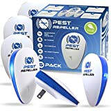 Ultrasonic Pest Repeller [6 Pack ], Electronic Plug in, Pest Reject,Non-Toxic, Cruelty-Free Repellent for Mice, Insects, Rats, Chinches, Cockroaches, Spiders, Feas, Flies, Safe for Humans and Pets