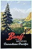 Canada - Banff - Canadian Pacific - (artist: Trompf) - Vintage Advertisement (9x12 Art Print, Wall Decor Travel Poster)