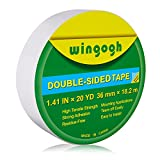 Wingogh Double Sided Tape - Multi-Purpose Double Sided Duct Tape Perfect for Carpet Rug Indoor and...