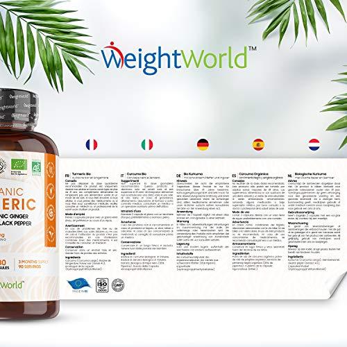 CURCUMA E PIPERINA PLUS ZENZERO – BIOLOGICO. Formula Forte 1520mg, 180 Capsule Bio, Antinfiammatorio Naturale e…