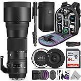 Sigma 150-600mm 5-6.3 Contemporary DG OS HSM Lens for Nikon DSLR Cameras w/Sigma USB Dock & Advanced Photo and Travel Bundle