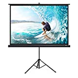 TaoTronics Projector Screen with Stand, TT-HP020 Indoor Outdoor Movie Projection Screen 4K HD 120' 4:3 with Wrinkle-Free Design (Easy to Clean, 1.1 Gain, 160° Viewing Angle & Includes a Carry Bag)