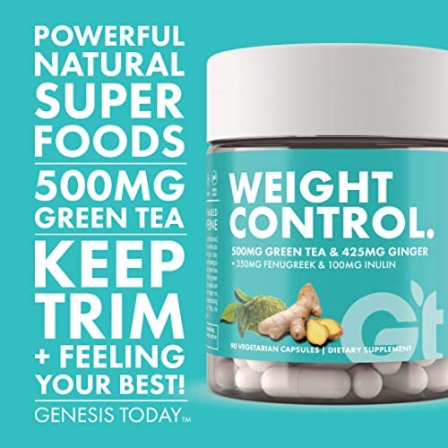 Genesis Today Weight Control Dietary Supplement, 500mg of Green Tea and 425mg of Ginger Root Per Serving, 90 Vegetarian Capsules 5