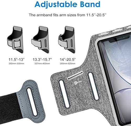 JETech Cell Phone Armband Case for Apple iPhone SE(2020)/11/11 Pro/XR/XS/X/8 Plus/7 Plus/8/7/6s/6, Samsung Galaxy S10/S9/S9+, Adjustable Band, w/Key Holder and Card Slot, for Running, Walking, Hiking 8