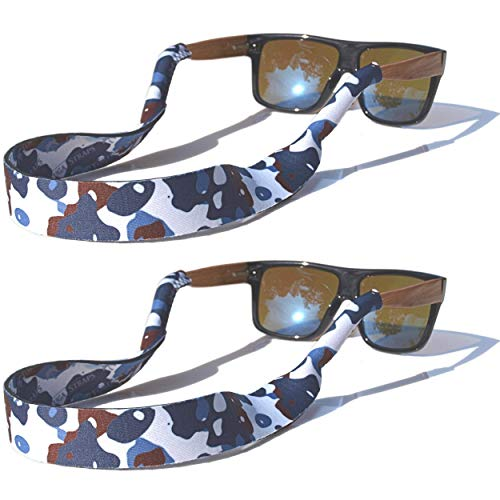 TORTUGA STRAPS FLOATZ Relaxed Fit Winter Camo -2 Pk Floating Sunglass Straps