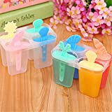 Ice Cream Makers - 4 Rectangle Shaped Reusable Diy Frozen Ice Cream Pop Baking Moulds 11.86.510cm Ice Cream Popsicle Molds Cooking Tools - Packs Mini Molding Bar Dining Cone Toy Compressor