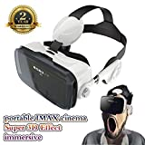 VR Headset 3D VR Glasses 360° Viewing Immersive Virtual Reality Headset with Headphone for iPhone 6/6 Plus 4.0 - 6.0 inches Android IOS Smartphones
