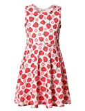 Jxstar Girls Dress 4t Girls Dress 5t Girls Dress 4-6x Little Girls Dress Strawberry 120