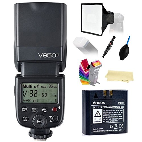 Godox-Ving-V850II-GN60-24G-18000s-HSS-Camera-Flash-Speedlight-15s-recycle-time-650-Full-Power-Pops-with-2000mAh-Li-ion-Battery-compatible-for-Canon-Nikon-Pentax-Olympas
