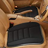 Car Seat Cushion Pad for Car Driver Seat Office Chair, Computer Chair with Non Slip Bottom Memory Foam Seat Cushion Black