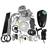 MOTOOS 50cc 2 Stroke Bicycle Motorized Cycle Gas Engine Motor Set - 26' & 28' (Silver)