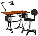 Product review for Martin Creation Station Art-Hobby Table and Chair Set, Black with Tiltable Cherry Top, 24-Inch by 40-Inch Size Surface