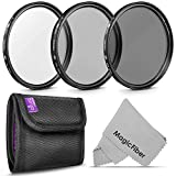 55MM Altura Photo Professional Photography Filter Kit (UV, CPL Polarizer, Neutral Density ND4) for Camera Lens with 55MM Filter Thread + Filter Pouch