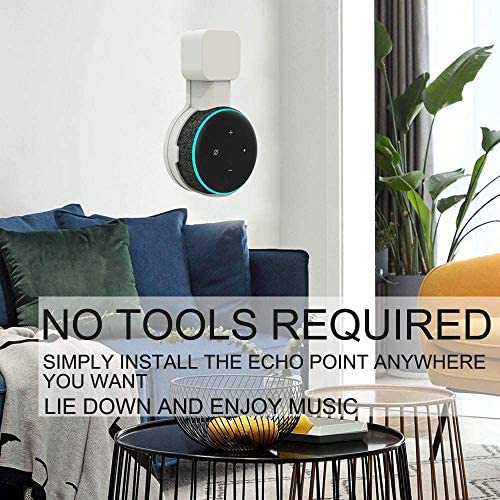 51lMvH z8FL. AC  - Wigoo Soporte de Montaje en Pared Outlet para Dot 3rd Generation, gestión de Cables incorporada, una solución Que Ahorra Espacio para Sus asistentes de Voz, Oculta los Cables Dot #Amazon