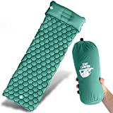 Legit Camping Sleeping Pad Camping Mat by The Most Comfortable Sleeping Mat - Rolls Up Tight - Air Support Cells Transform Your Camping Mattress and Camping Pad - Best Outdoor Sleep (Sea Green)