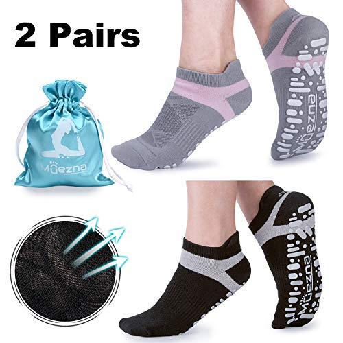 Muezna Non Slip Yoga Socks for Women,...