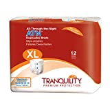 Tranquility ATNTM (All-Through-The-Night) Adult Disposable Briefs - XL - 72 ct