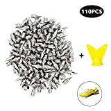 Track Spikes 110 Pieces 1/4 Inch Pyramid Shoe Spikes Replacements Track Stainless Steel Metal Extra Long Running Track Cross Country Spikes Shoes Track Spikes-Silver