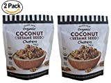 Trader Joe's Organic Coconut Sesame Seed Clusters (2 pack) - Crunchy Coconut Clusters With Black & White Sesame Seeds.