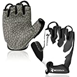 Cycling Gloves, HiCool Fitness Gloves Biking Gloves Weight Lifting Gloves Breathable Half Finger Workout Gloves with Anti-Slip Shock-Absorbing Gel Pad Outdoor Sports Gloves for Men and Women