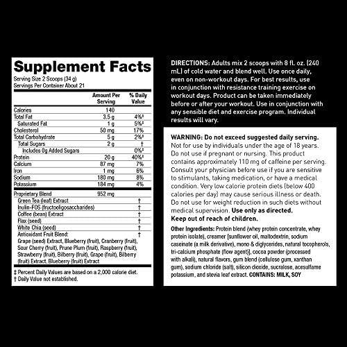 Zantrex High Energy Fat Burning Protein Tasty Shake™, Triple Chocolate Fudge, 22 Ounces 5