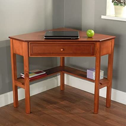Cherry Wood Corner Computer Desk This Laptop Desk Is Perfect For Small Computers And Space