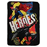 "Northwest Kids Fleece Throw Blankets 46"" x 60"" Several Options (Batman Vs Superman)"