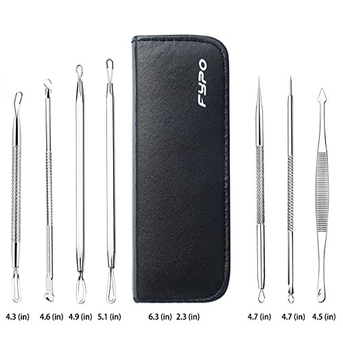 Blackhead Remover Kit 7 PCS, Fypo Pimple Popper Tools for